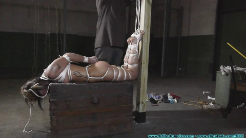 Bondage, domination and hogtie for very horny blonde part 2