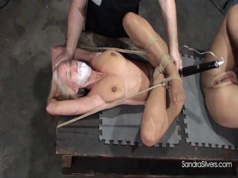 Two Buxom, Bendy MILFs Undergo Bondage Orgasm Experiments!