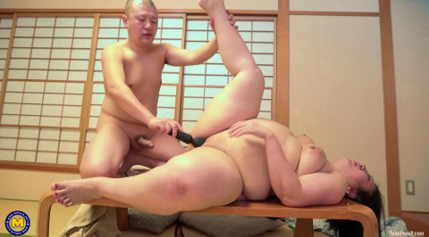 Japanese large arse aged Shizuka getting drilled