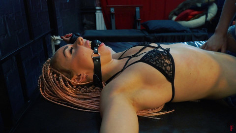 Bdsm Most Popular Topless Agata tickles her full body, licking