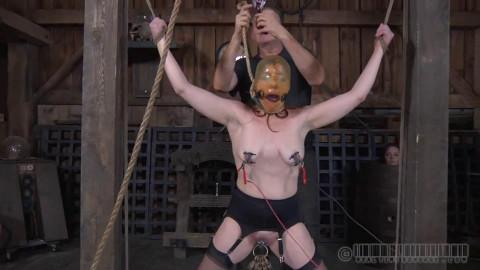 Hard restraint bondage, spanking and suspension for hawt angel