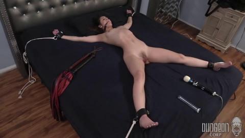 Super restraint bondage, spanking and castigation for hot juvenile dark brown part 2