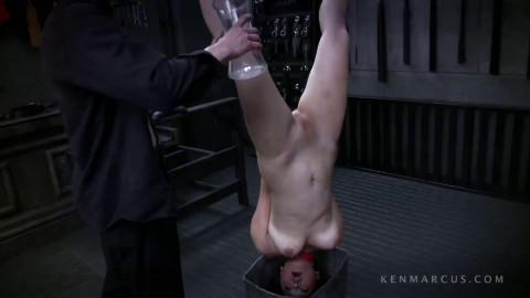Restraint bondage, spanking, strappado and castigation for lascivious exposed floozy Full HD 1080p
