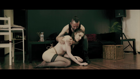 Tight tying, spanking and domination for nude whore