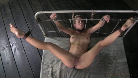 Cherie DeVille takes on two cock for the first time ever! bound and fucked! (2013)