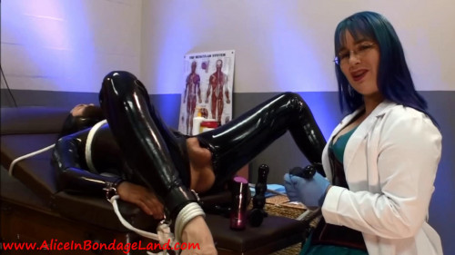 Femdom and Strapon Flashback Friday - Kinky Latex Prostate Exam - Electric CBT Milking with Doctor Alice