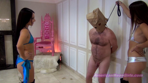 Femdom and Strapon His Wife Wanted His Nuts Destroyed By Us