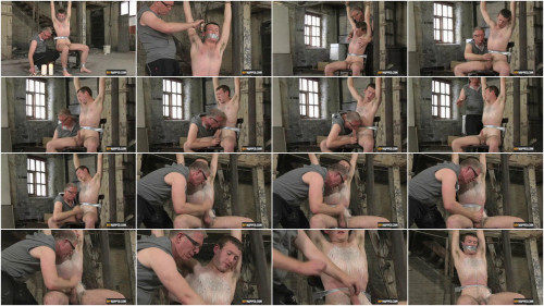 Gay BDSM Str8 Luke Bound & Abused
