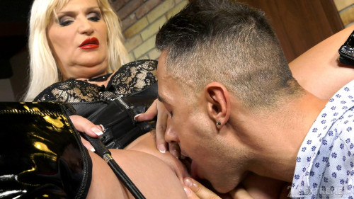 Femdom and Strapon Anna Valentina - Submissive Client