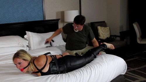 BDSM Latex blair bousson belted
