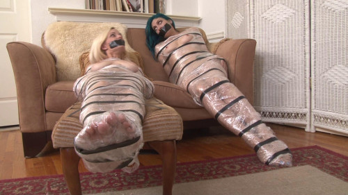 bdsm Bound and Gagged - Two Mummified Captives
