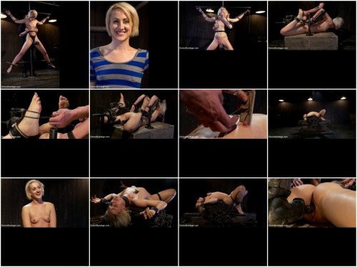 BDSM Tall blonde slut suffers from nipple torture, sadistic beatings, and extreme squirting orgasms