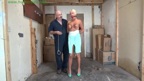 BDSM HunterSlair - Amanda Foxx - Busty blond Milf triple cuffed tits