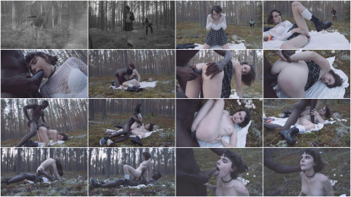 Interracial Darcy Dark in search of mushrooms in the forest got her first anal BBC 720p