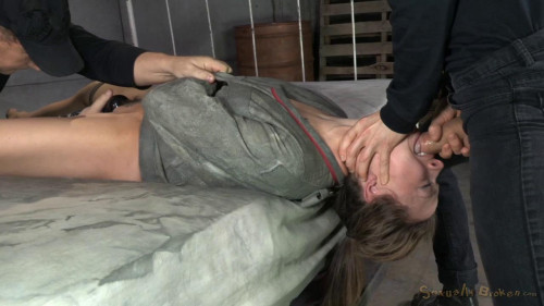 bdsm Chanel Preston tagteamed by dick, ragdoll fucked while straightjacketed, brutal epic deepthroat