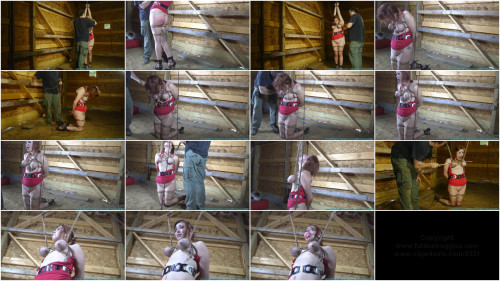 BDSM Barnyard Bondage for Riley - Her Ordeal Continues - Part 2