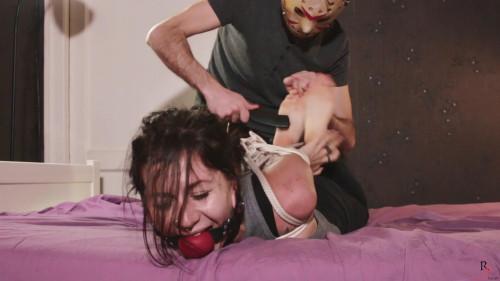 BDSM Russian Fetish Tina Tickling In Hogtie And Big Ballgag (2017)