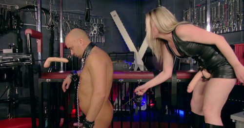 Femdom and Strapon Training A Cock Whore