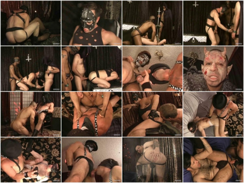 Gay BDSM The Omen Of Damien Silver