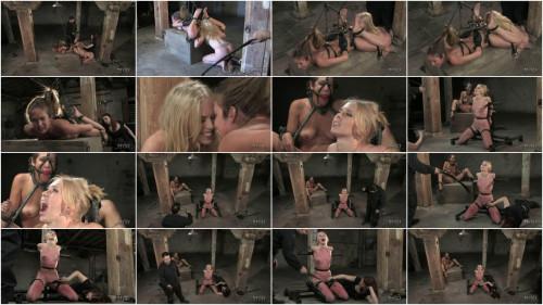 BDSM Hard bondage, torture, spanking and strappado for two hot models (Part2)