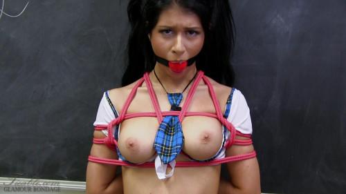 BDSM Little Lanta - cute school girl gagged and tied