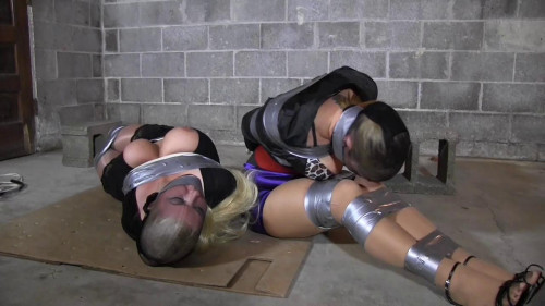 BDSM The Creepy Couple Stuffs Their Mouths With Socks and Does First Their Tape Job