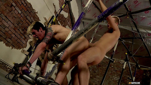 Gay BDSM Fucked And Fed Over And Over