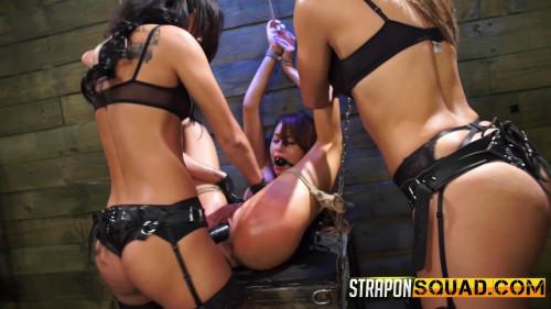BDSM StraponSquad Marina Angel Endures Lesbian Domination Threesome