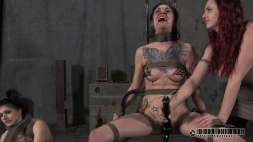 BDSM Hard bondage, spanking and torture for two naked girls part1 HD 1080p