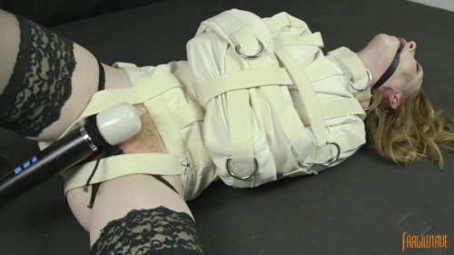 BDSM Straight Jacket Struggle to Cum