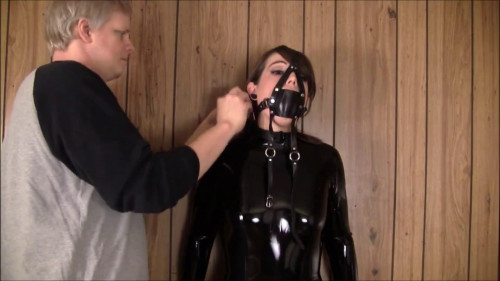 BDSM Latex Super bondage, hogte and domination for sexy girl in latex