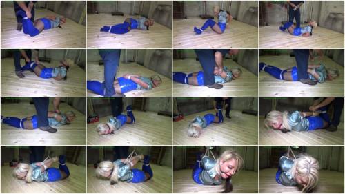 BDSM Brutally hogtied & hoisted off the floor