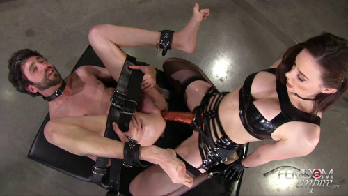 Femdom and Strapon Chanel Preston - Stretched and Ass Locked
