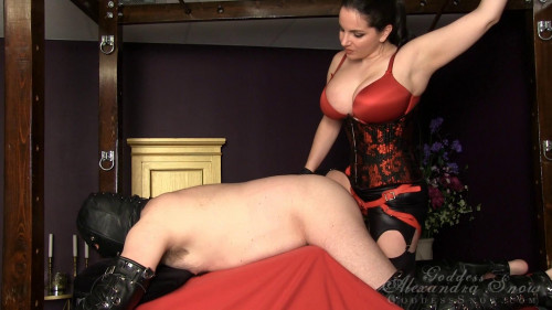 Femdom and Strapon Take My Dick, Slave