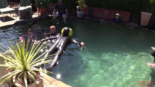 BDSM Latex Rubber Pool