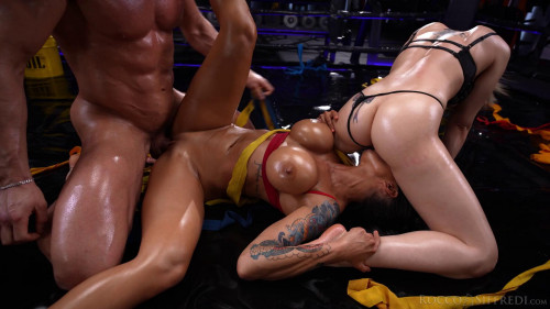 Hot Oil Threesome With Cuties Angie Lynx & Chloe Lamour