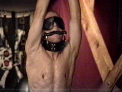 Gay BDSM Roped and Whipped
