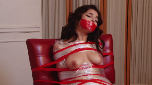 BDSM HD Bdsm Sex Videos Cutie Wrapped in Plastic and Tape