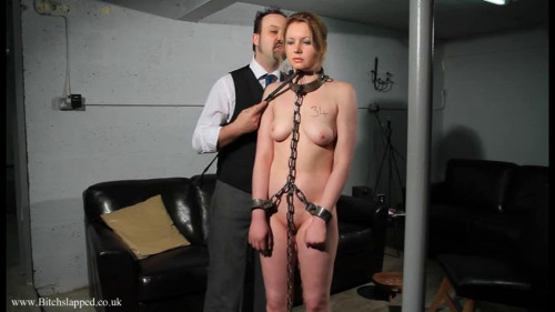 BDSM Tight bondage and domination for sexy naked slavegirl part 1