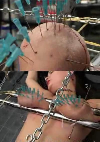 bdsm Extreme torture with needles