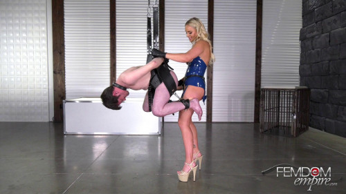 Femdom and Strapon Strap-on Slut Puppet