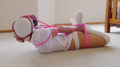 BDSM RestrictedSenses Part Rs-254 - Schoolgirl Hooded Gagged and Hogtied 1080p