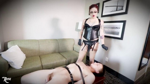 Femdom and Strapon Miss Roper