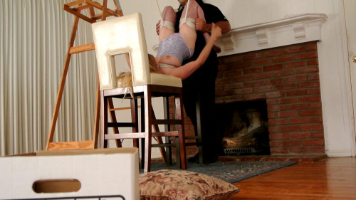 bdsm Bound and Gagged - Strung Up By Her Thighs - Lorelei is Suspended Upside Down
