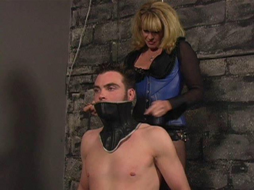 Femdom and Strapon Latex Rubber - Andrews Drilling - Domination HD