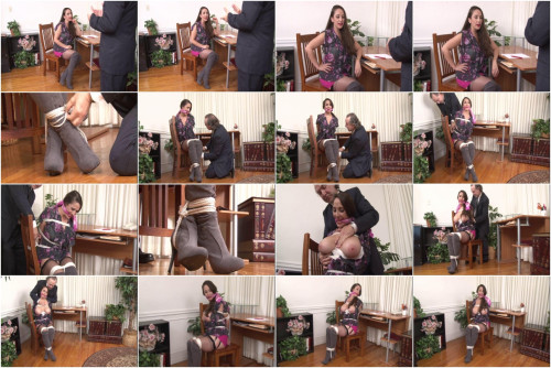 bdsm Bound and Gagged - Boss Ties Secretary at the Office - Jewell Marceau