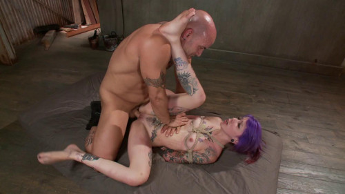 bdsm FB - 09-06-2013 - Young, tattooed slut gets fucked in all of her holes