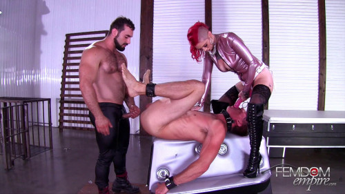 Femdom and Strapon Slave to a Couple Sully Savage FHD