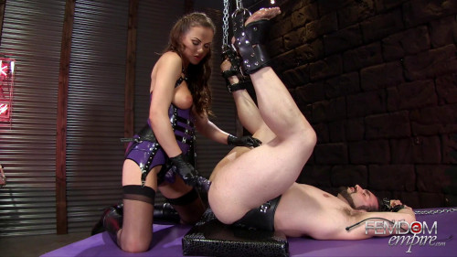 Femdom and Strapon Gaping Ass Fuck Doll