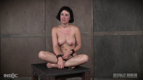 BDSM Hot Olive Glass gets bondage & rough fuck